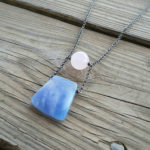 rose quartz & blue jade necklace